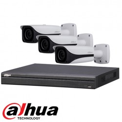 Dahua set 4-kanaals IP DVR + 3 x 4MP IP bullet camera IP67