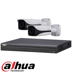 Dahua set 4-kanaals IP DVR + 2 x 4MP IP bullet camera IP67