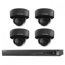 Hikvision IP camerabewaking set 4 dome camera's 4 MP BL
