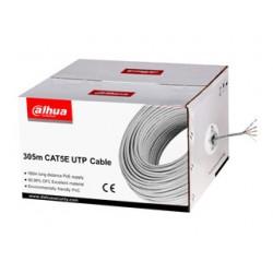 Dahua PFM920I-5EUN(E) CAT5e kabel, 4-paar UTP buitenmantel wit, 305 meter, CPR class E
