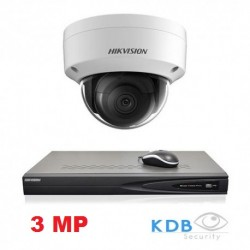 Hikvision IP camerabewaking set 1 dome camera 3 MP