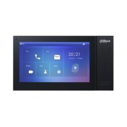 Dahua DHI-VTH2421FB-P monitor voor Video intercom, netwerk bekabeld , sip protocol, PoE, zwarte uitvoering