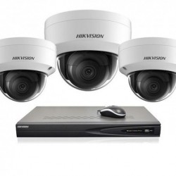 Hikvision IP camerabewaking set 3 dome camera's 8 MP