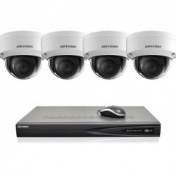 Hikvision IP camerabewaking set 4 dome camera's 8 MP