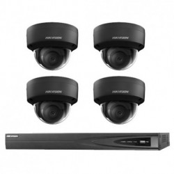 Hikvision IP camerabewaking set 4 dome camera's 6 MP BL