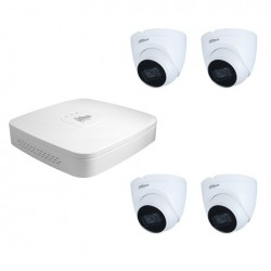 Dahua set 4-kanaals IP NVR + 4 x 4MP IP dome camera IP67