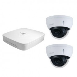 Dahua set 4-kanaals IP NVR + 2 x 4MP IP dome camera IP67