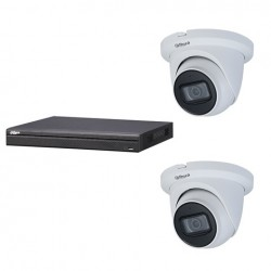 Dahua set 4-kanaals IP NVR + 2 x 4MP IP eyeball 2.7-13.5mm camera IP67