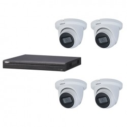 Dahua set 4-kanaals IP NVR + 4 x 4MP IP eyeball 2.7-13.5mm camera IP67