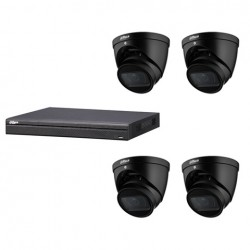 Dahua set 4-kanaals IP NVR + 4 x 4MP IP eyeball 2.7-13.5mm camera IP67 zwart