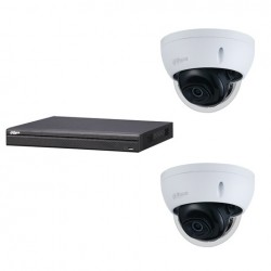Dahua set 4-kanaals IP NVR + 2 x 4MP IP dome 2.7-13.5mm camera IP67