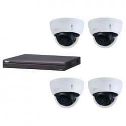 Dahua set 4-kanaals IP NVR + 4 x 4MP IP dome 2.7-13.5mm camera IP67