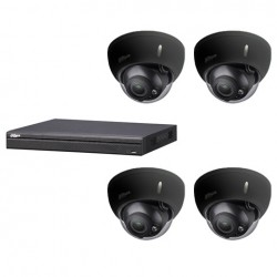 Dahua set 4-kanaals IP NVR + 4 x 4MP IP dome 2.7-13.5mm camera IP67 zwart