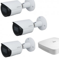 Dahua set 4-kanaals IP DVR + 3 x IP bullet camera IP67