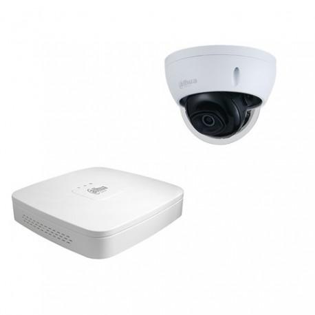 Dahua set 4-kanaals IP DVR + 1 x IP minidome camera IP66