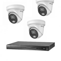 Hikvision 3 ColorVu camera's 4 MP IP camerabewaking set