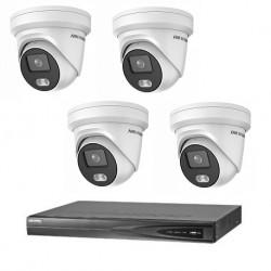 Hikvision 1 ColorVu camera's 4 MP IP camerabewaking set