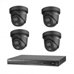 Hikvision 4 ColorVu camera's 4 MP IP camerabewaking set