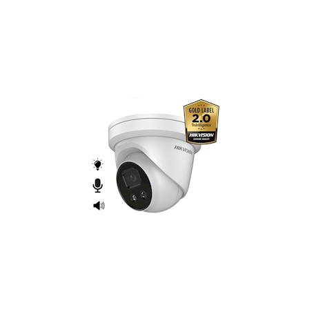 Hikvision DS-2CD2346G2-ISU/SL AcuSense 4MP Ultra low light IP67,stroboscoop en audio-alarm
