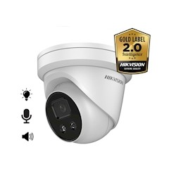 Hikvision DS-2CD2386G2-ISU/SL, 8MP, 2.8mm, microfoon en speaker, strobe light, 30m IR, WDR
