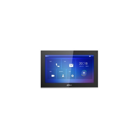 Dahua DHI-VTH5441G monitor 10 inch touch screen 1024 x 600, intern geheugen 8GB SD, SIP, voeding PoE en 12Vdc
