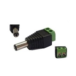 Female DC connector schroefconnecter, 5.5 x 2.1mm VP-PC003