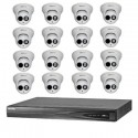 Camera set met 16x IP Camera